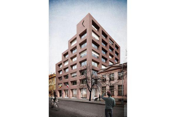 Praha 7 – Nová radnice (zpevněné plochy)