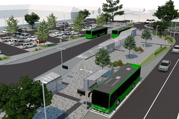 Libochovice – Studie revitalizace autobusového nádraží